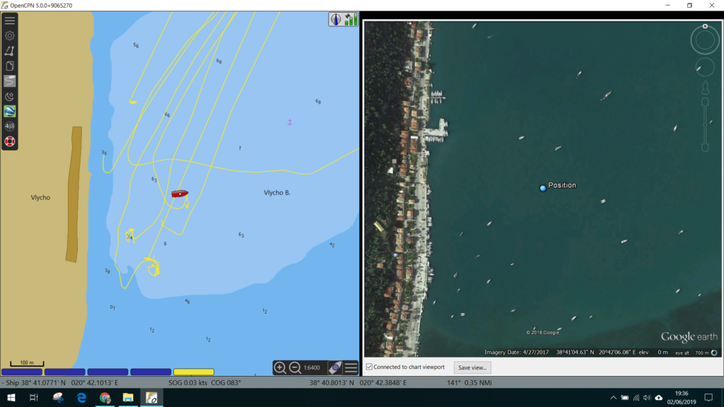 Using Google Earth with Open CPN - Delivery / Relief Skipper